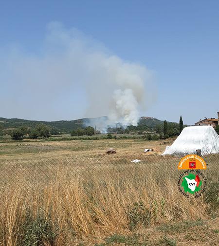 Incendio a Gavorrano (GR)