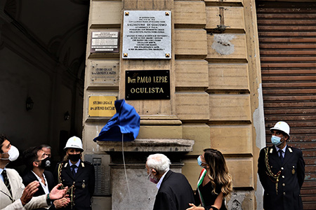 Targa a Salvatore Di Giacomo a Napoli