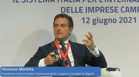 Vincenzo Moretta, Presidente dell'Ordine dei Dottori Commercialisti e degli Esperti Contabili di Napoli