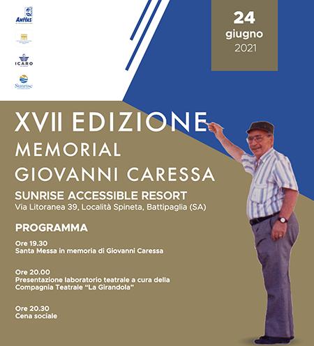 'XVII edizione del Memorial Giovanni Caressa'