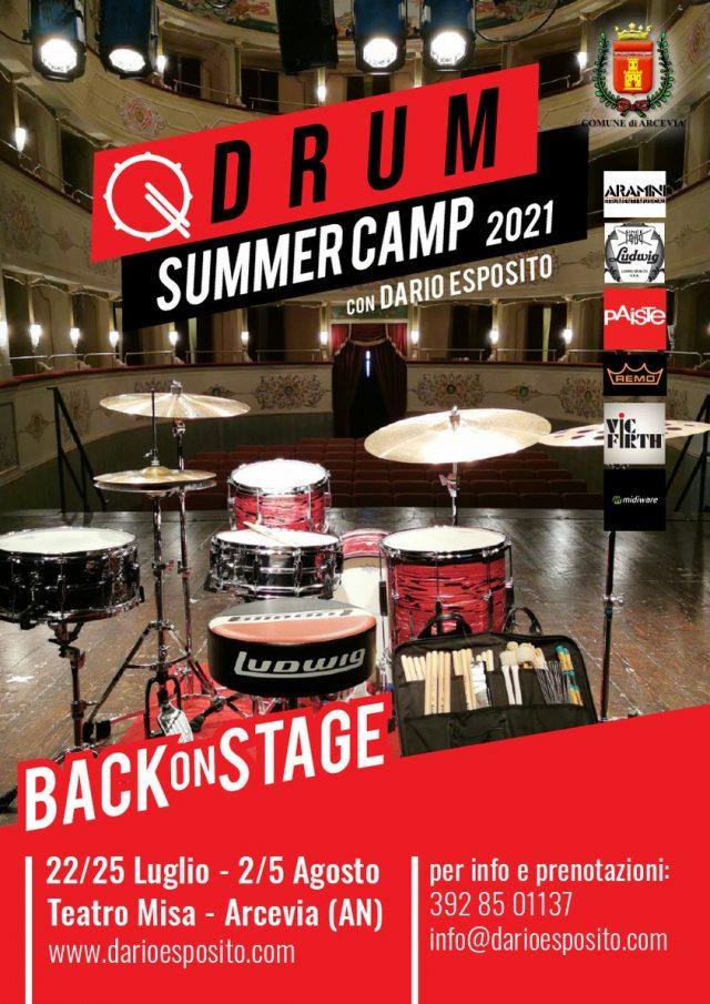 Back on Stage, al via il Drum Summer Camp di Dario Esposito 2021