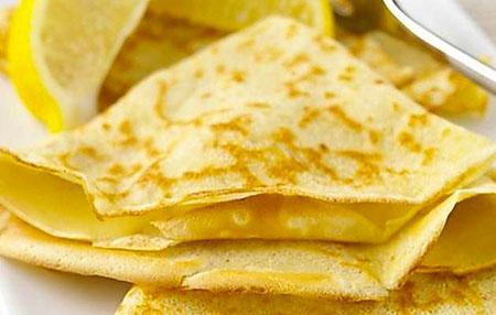 Crêpes con crema al limone