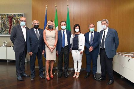 Delegazione autotrasportatori con Fontana