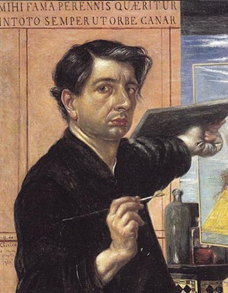 Giorgio de Chirico, Autoritratto come pittore