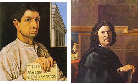 Giorgio de Chirico, Autoritratto - Nicolas Poussin, Autoritratto