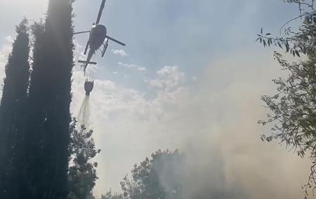 Incendio ad Asciano (SI)