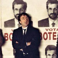 Silvio Orlando con Daniele Luchetti e nanni Moretti sul set di 'Il portaborse'