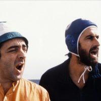 Silvio Orlando e nanni Moretti in una scena di 'Palombella Rossa'