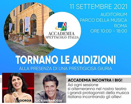 Accademia Spettacolo Italia audizioni