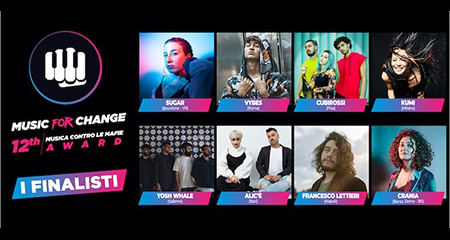 Music For Change 12th Musica contro le mafie Award': gli 8 finalisti
