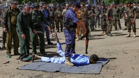 esecuzione massa houthi sana'a
