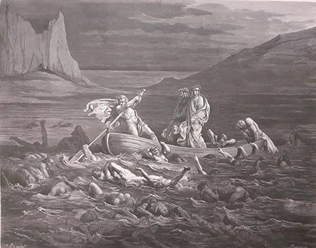 BNN - L'Inferno, il Purgatorio e il Paradiso colle figure di Gustavo Doré – Parigi, Hachette, 1861, Caronte