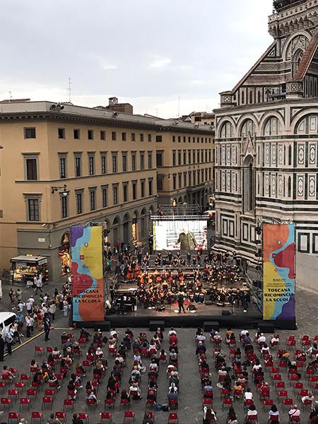 Concerto ReMuTo in piazza Duomo a Firenze