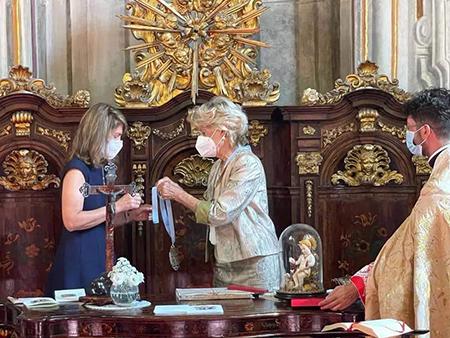 Donna Sofia e Agata Orlando Riva dei Conti Sanseverino - foto Italpress
