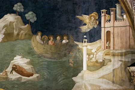 Giotto di Bondone – Scene dalla vita di Maria Maddalena – Il Viaggio di Maria Maddalena a Marsiglia