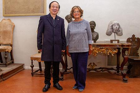 Liu Youju e Cristina Acidini