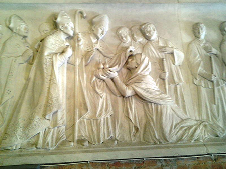 Napoli, Vomero, altorilievo, chiesa di San Gennaro ad Antignano