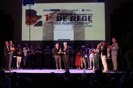 premiazione vincitore Domenico Palmiero
